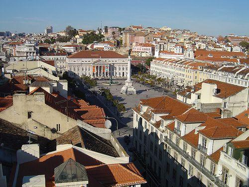 Vista do Miradouro de Sta. Justa - Lisboa (Portugal)
