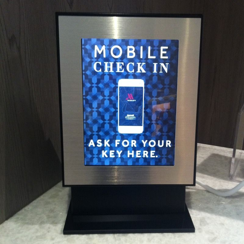 our mobile checkin station at the irvine marriott