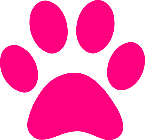 pink print | Dog Paw Print Transparent Background Paw