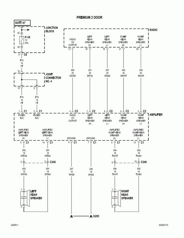 16  1998 Dodge Dakota Car Radio Wiring Diagram