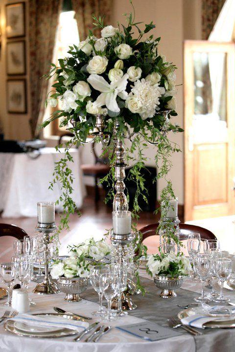 Simple Yet Elegant Candelabra Flowers Centre Piece