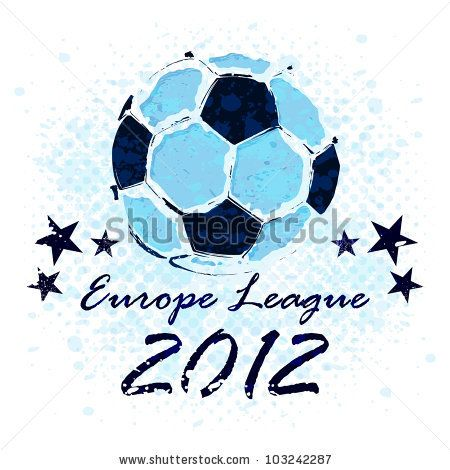 Vector Grunge Soccer Ball Europe League Soccer Ball Soccer League