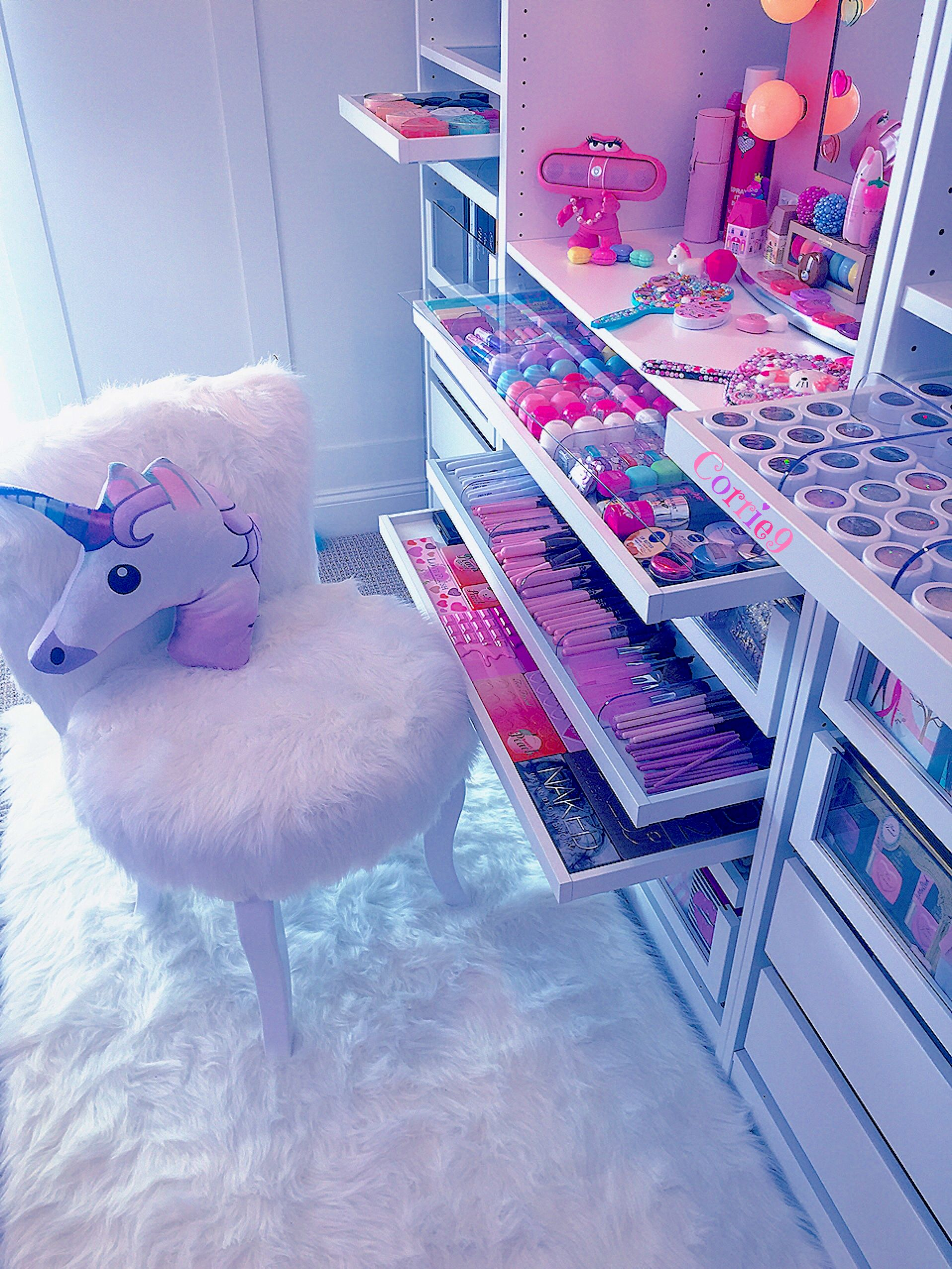 Unicornroomdcore Sweet Pink Cute Girl Bedroom D Cor Room Decor Unicorn Rooms Kawaii Bedroom