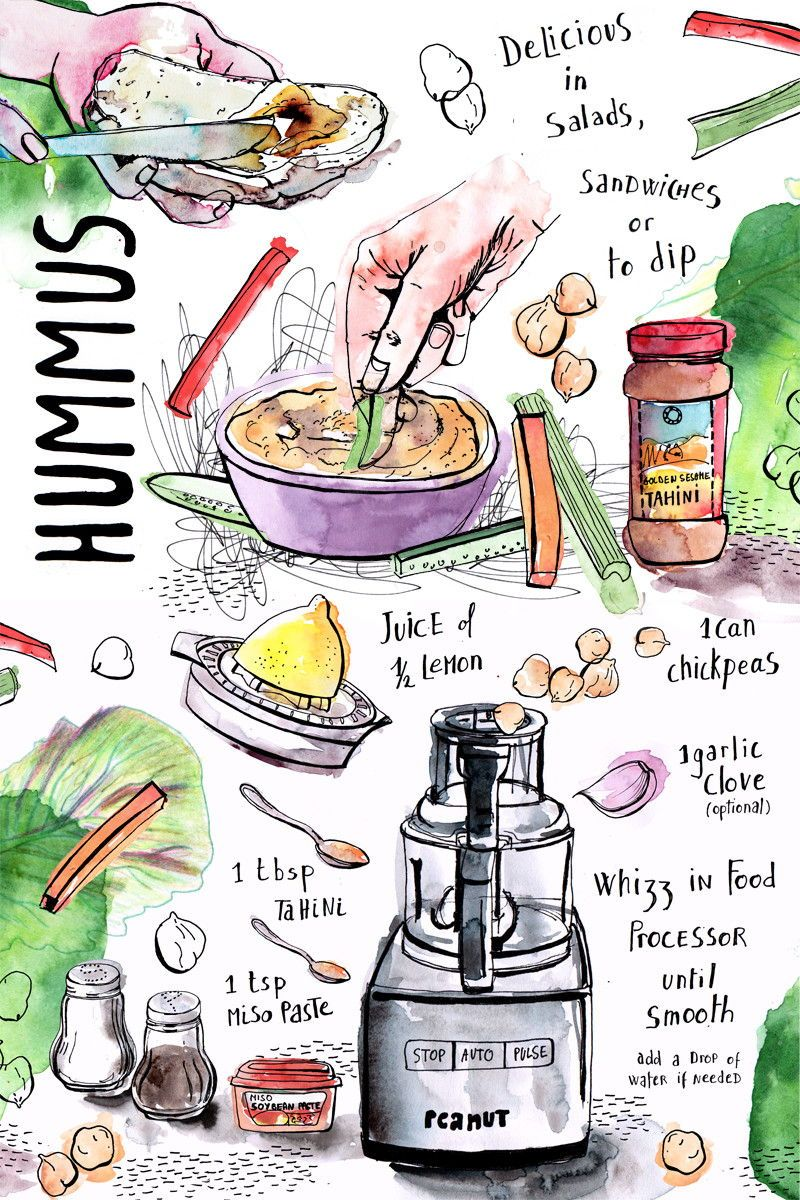 Illustrated Recipes Hand Drawn Sophie Peanut Water