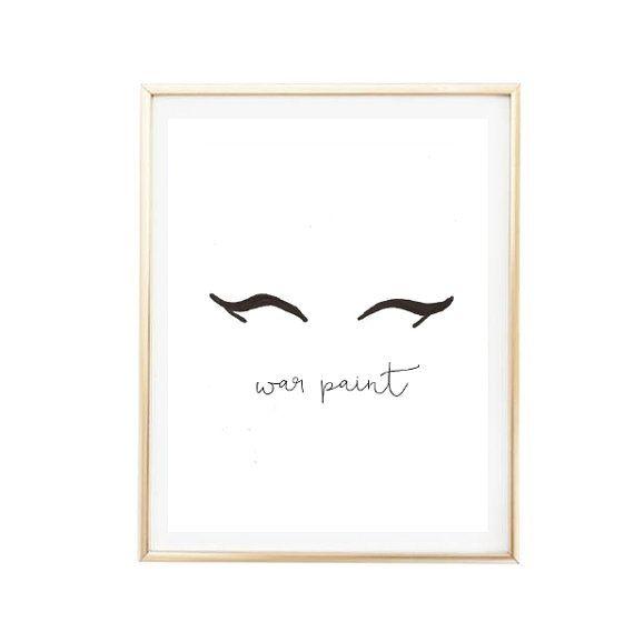 Surprising Printable 8X10 War Paint Eyeliner Makeup Print Typographic Download Free Architecture Designs Scobabritishbridgeorg