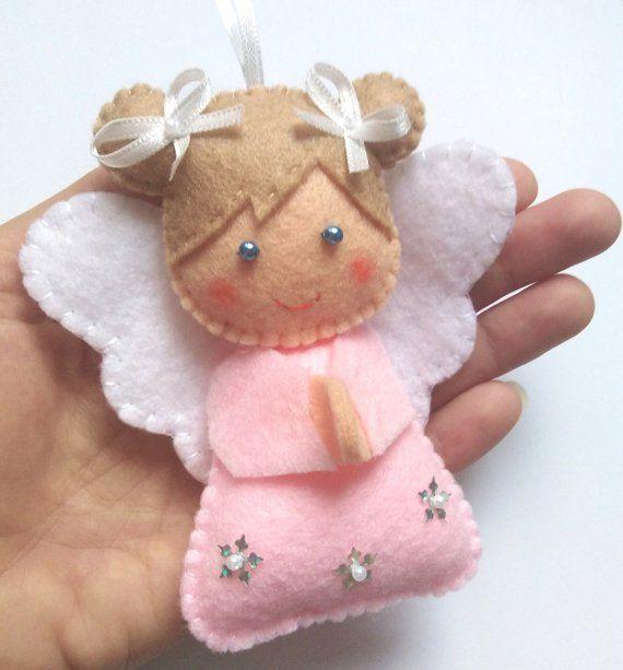 Felt Angel Ornament, Christmas Decor Handmade, Chr