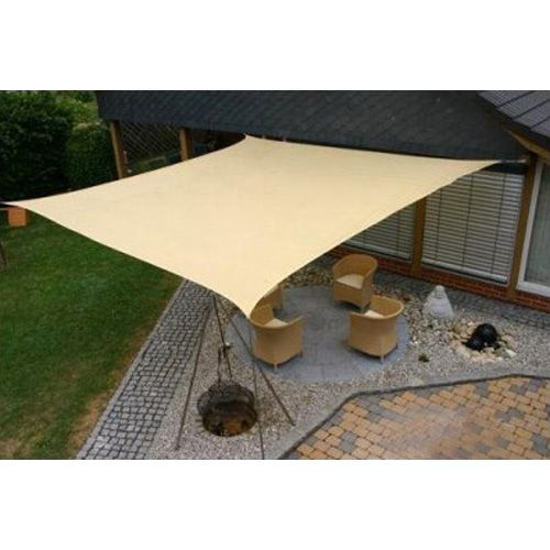 SUN SAIL SHADE   SQUARE CANOPY COVER   OUTDOOR PATIO AWNING   10u0027 SIDES  (10x10)