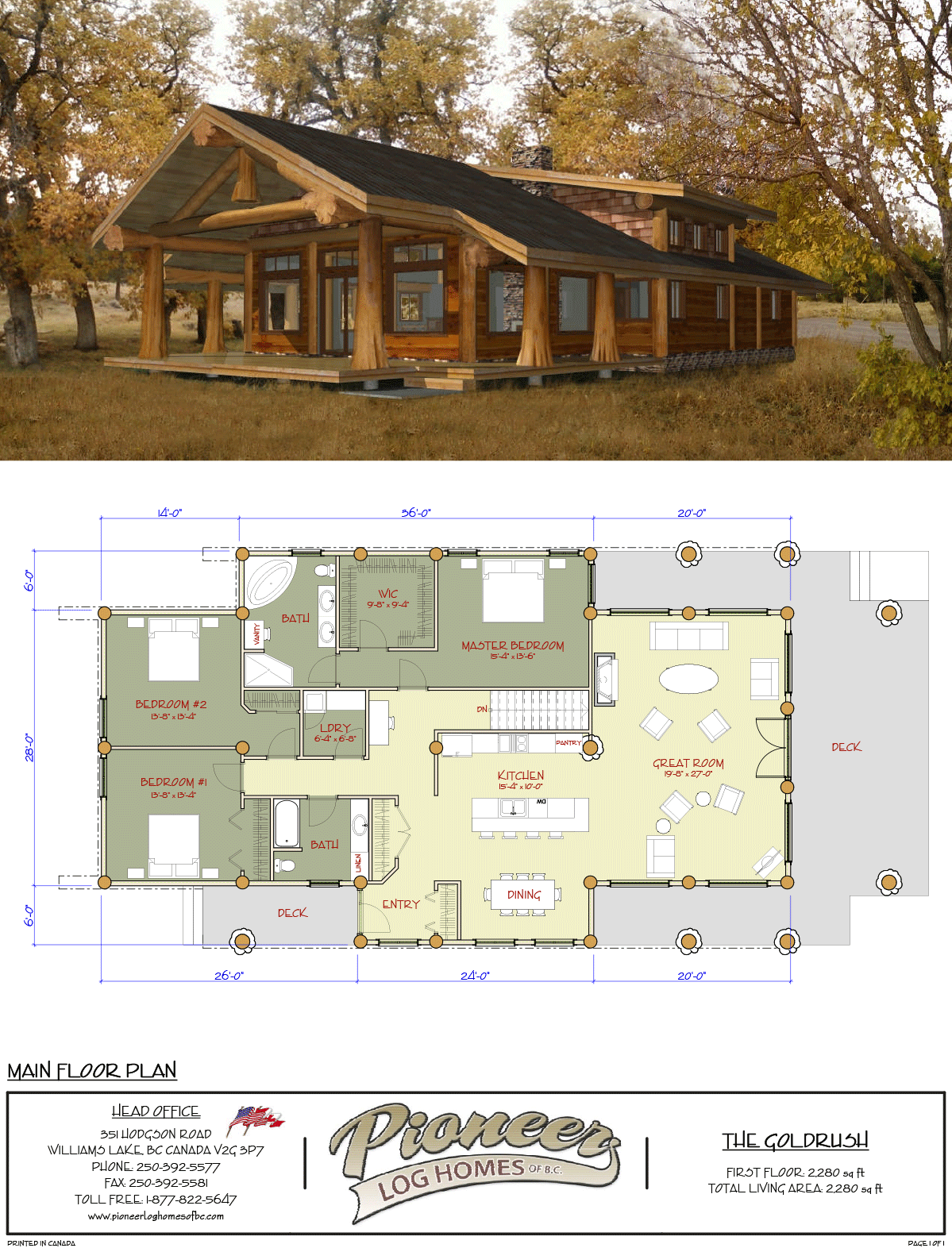 Goldrush Pioneer Log Homes Midwest Dream House Plans Cabin House Plans Log Home Floor Plans