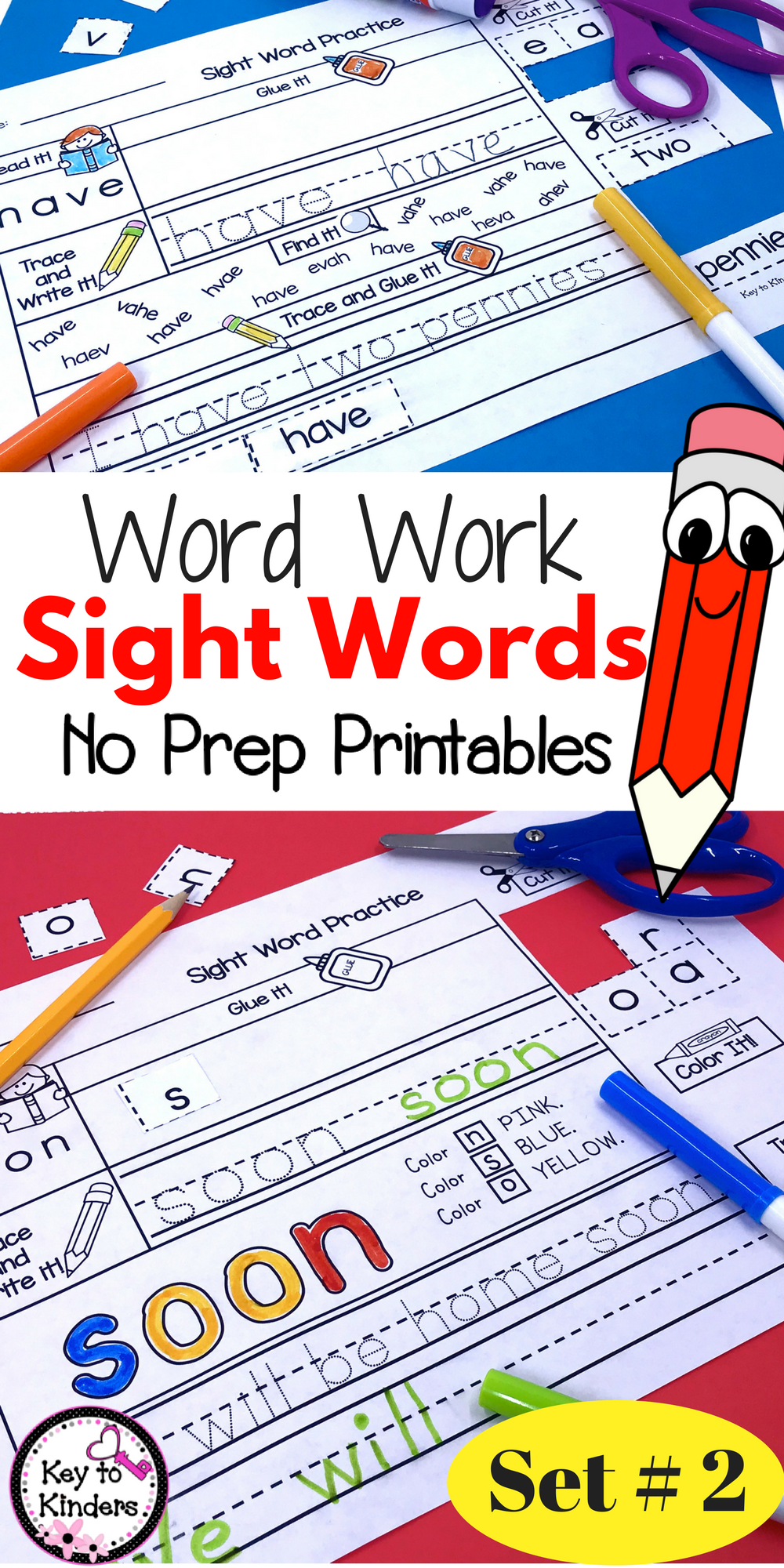 Word work sight words printables set primer pinterest word