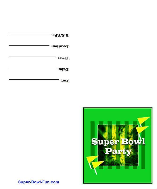 Printable Super Bowl Party Invitations | Free Printable Super Bowl ...