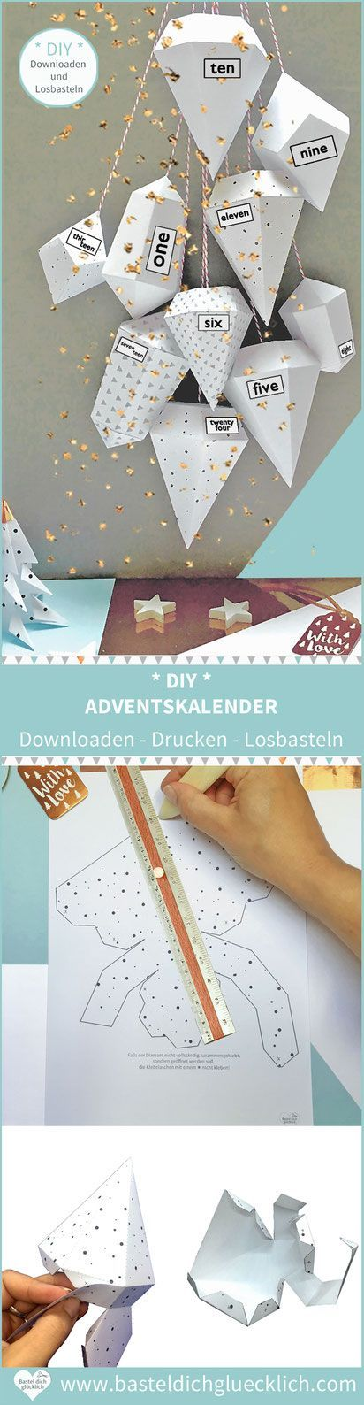 DIAMOND DIY ADVENT CALENDAR SELF-BASED - BASIC INSTRUCTIONS & TEMPLATES FOR PRINTING -   # #adventskalendermann