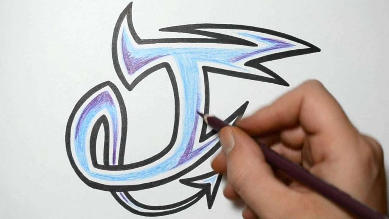 How To Draw Graffiti Characters Letter J Youtube Graffiti