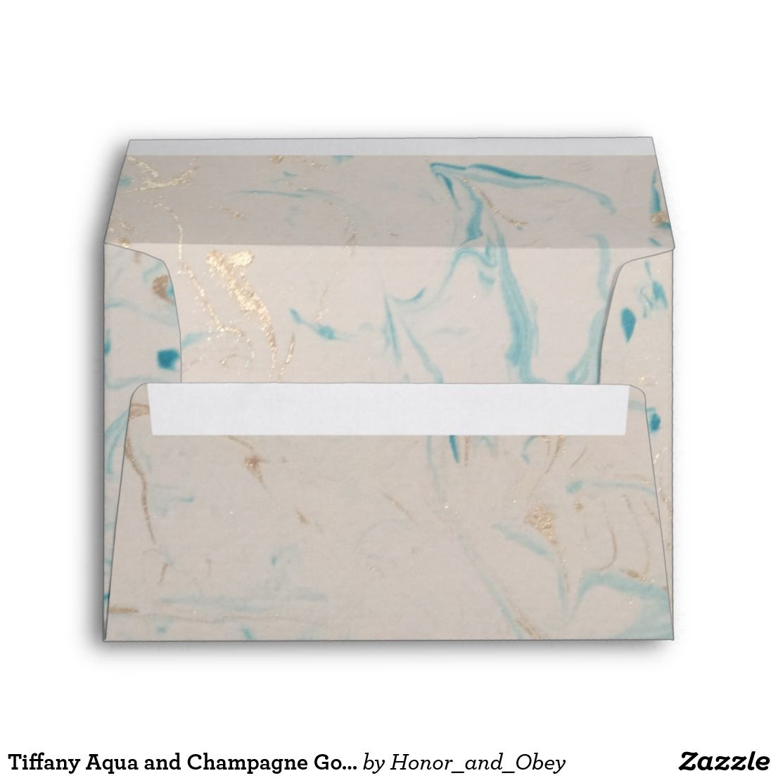 Aqua And Champagne Gold Marble Envelope Zazzle Com Gold Marble Metallic Gold Paint Champagne Gold