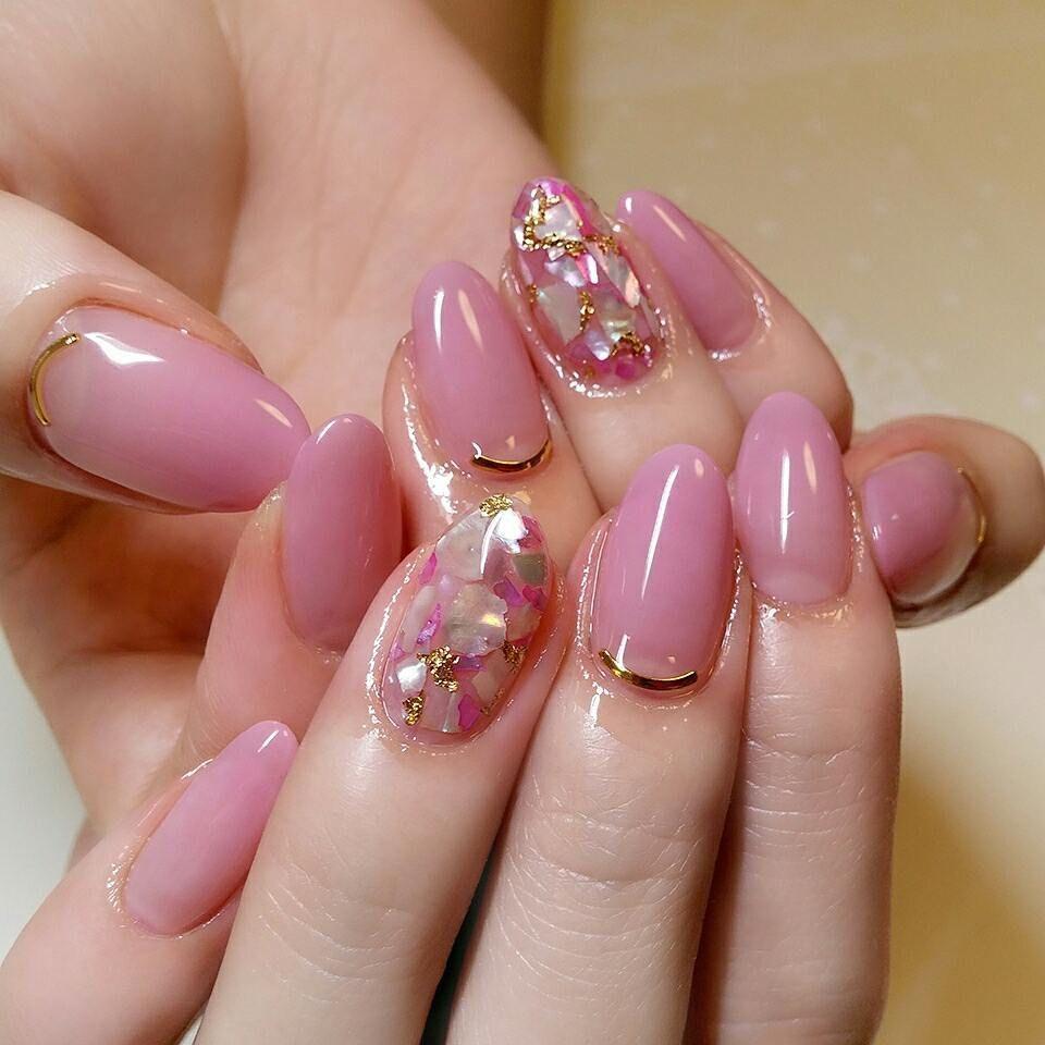 1本だけキラキラ #nail #nailist #nailart #naildesign #nails #nailartlover #jel # ...