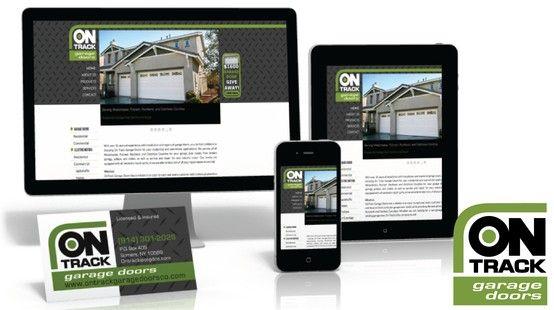 Ontrack Garage Doors Branding Program Complete With Mobile Web