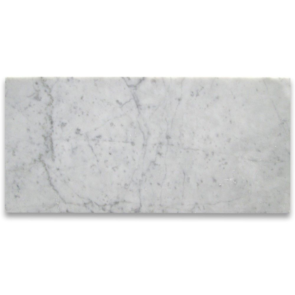 Carrara White 6x12 Subway Tile Polished Marble From Italy Subway Tile Tiles Carrara