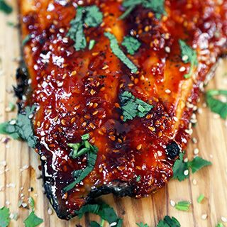 Honey Sriracha Oven Baked Salmon #salmonrecipes