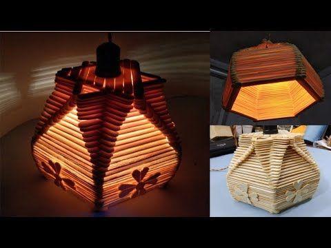Diy Como Fazer Luminaria De Palito De Picole Sorvete Faca Voce