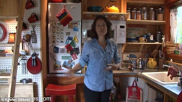 Content: Phoenix hopes to never again require a full-size fridge or other big, modern convenience. She has just two pots to cook with and says it suits her and her family fine