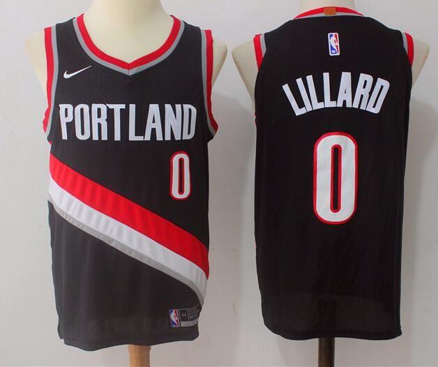 7f622b34 Men's Portland Trail Blazers #0 Damian Lillard Black 2017-2018 Nike  Swingman Stitched NBA Jersey
