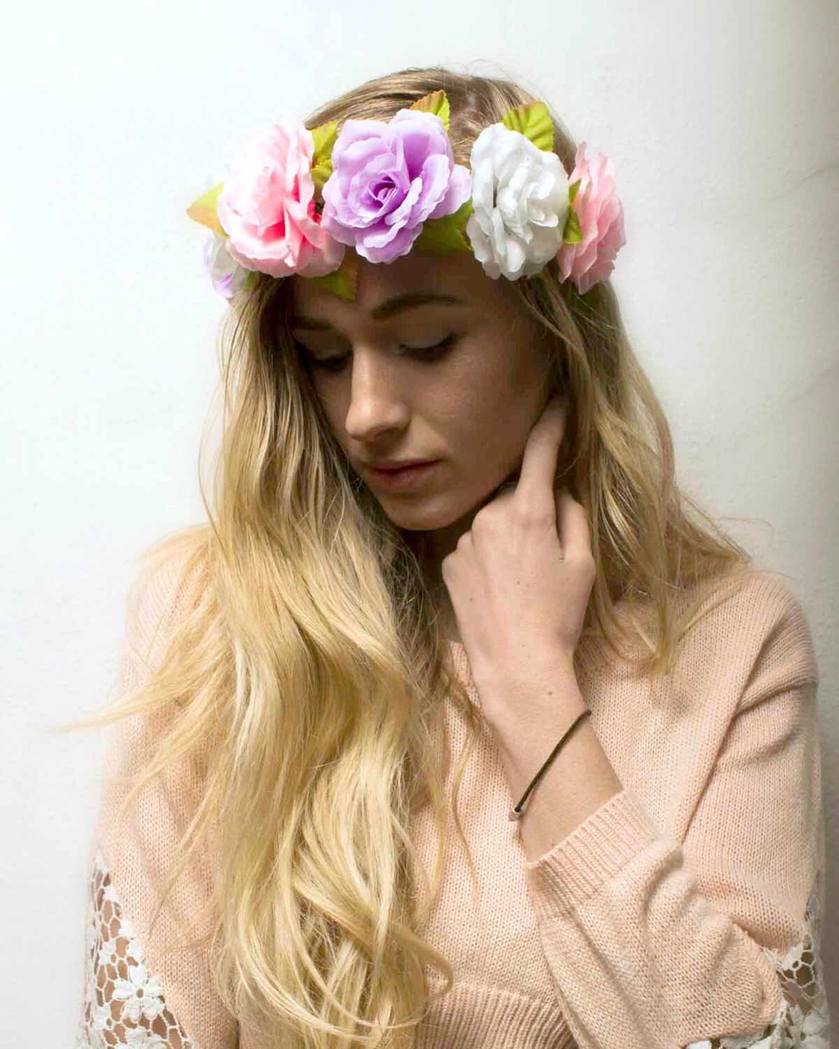 0e152d06 Flower Crown Headband, Coachella, Music festival, Rave accessory - Pink /Purple/