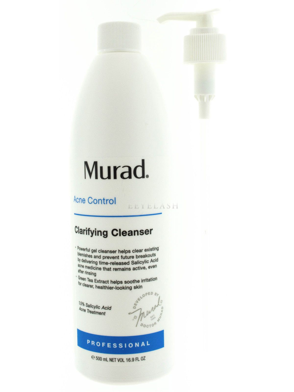 Best Acne Treatment 2020 Murad Acne Clarifying Cleanser Pro Size 16.9 fl oz / 500 mL AUTH