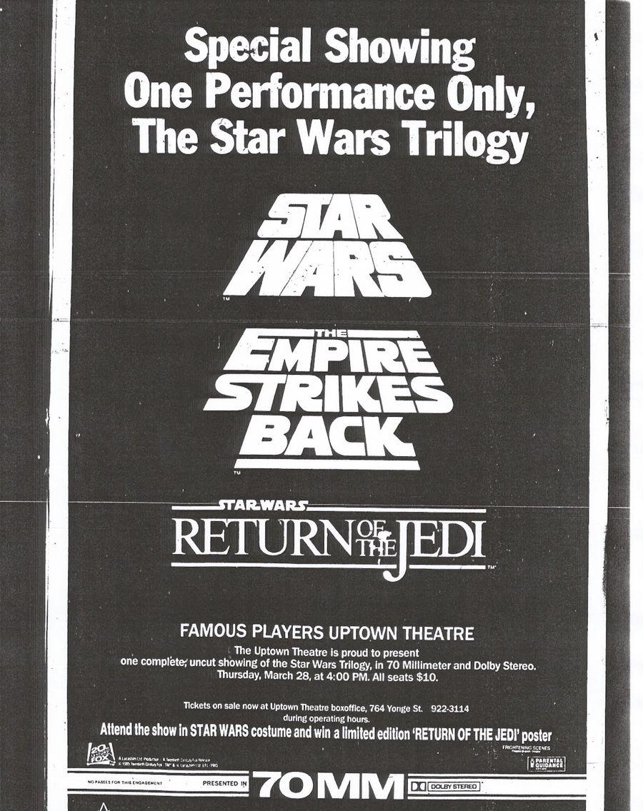 Newspaper ad Star wars poster, Star wars trilogy, Star wars