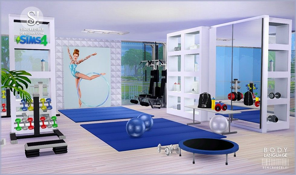 My sims body language gym set by simcredible designs