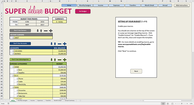 super deluxe budget budgets and financial planning pinterest