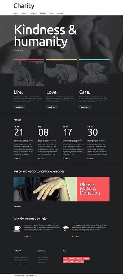 Charity Responsive WordPress Theme | Charity WordPress Themes ...
