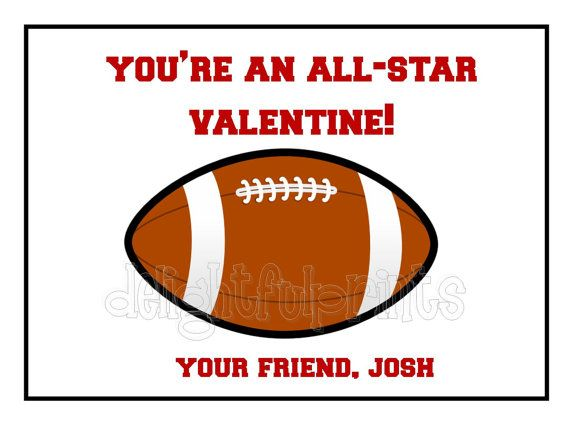 football kids valentine cards personalized holidays pinterest football valentine cards