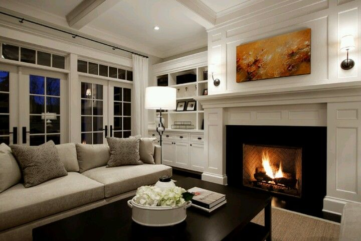 White/beige living room We have a house! Pinterest Beige