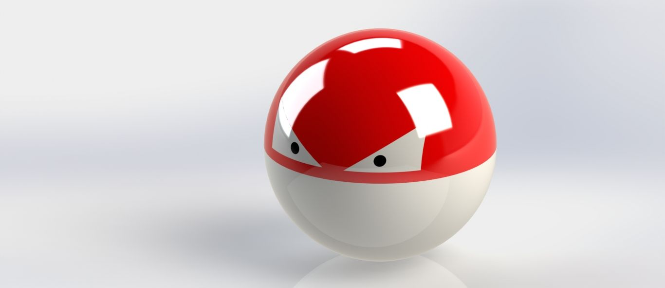 The Pokemon, Voltorb. This was very easy to make as you could have guessed.