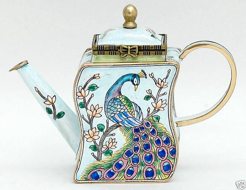 KELVIN CHEN Enamel Mini Teapot  Peacock Teapot Gallery