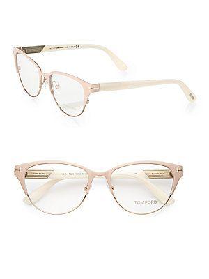 8b885135b48e4  119.00 Tom Ford Cateye Eyeglasses TF5318 074 Size  53mm Shiny  Rose Gold Ivory