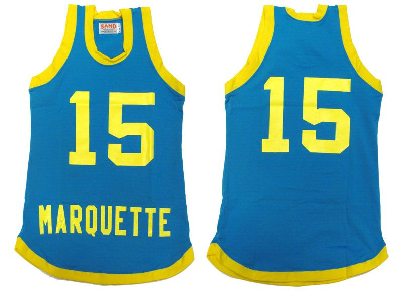 e883d1f2dc1 From the same company that made the original 1977 Marquette Men's  Basketball jersey. Item #21029 1977 Replica Jersey. By Sandknit Ripon  Athletic. $99.95.