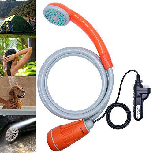 AngLink Campingdusche mit Tauchpumpe und Batteriebetrie