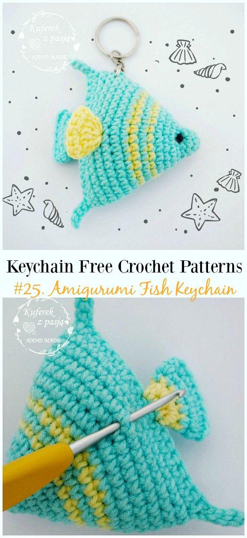 Cute and Fun Keychain Crochet Patterns Free | amigurumi | Pinterest ...