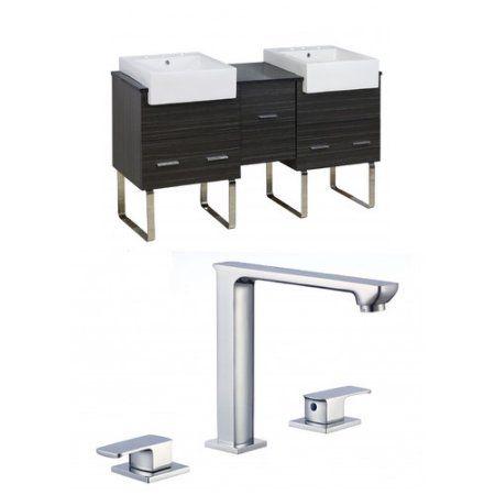American Imaginations Xena Farmhouse 62'' Double Bathroom Vanity Set