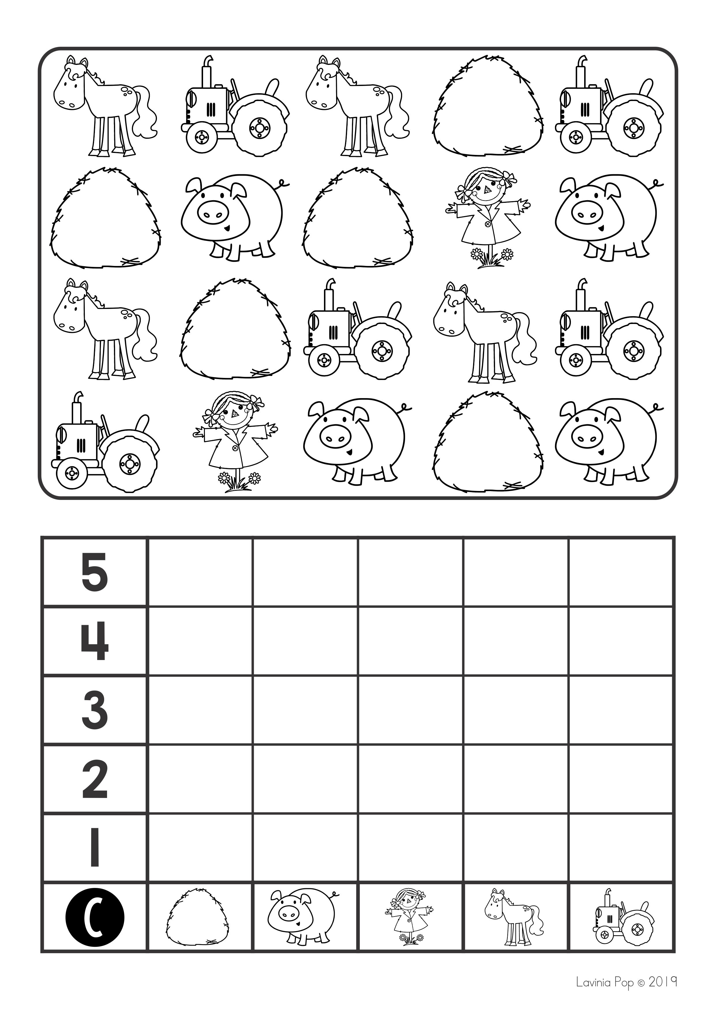 Farm Math Centers For Kindergarten B Amp W
