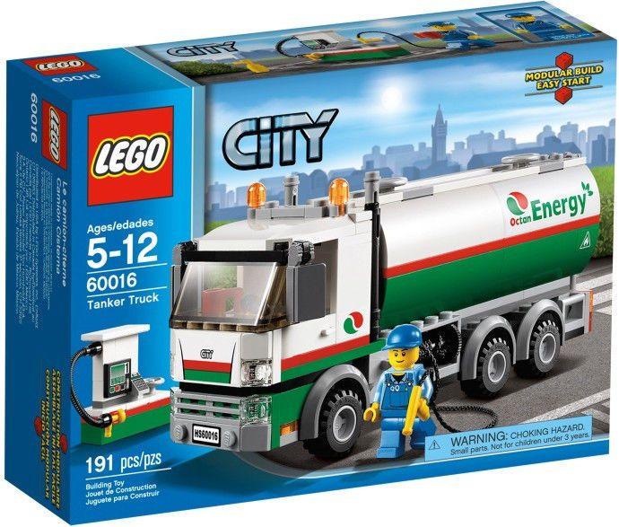 January 2013 Lego City Tanker Truck 60016 Nib On Hand Great Gift Lego Set Tanker Trucking Lego City Lego Truck