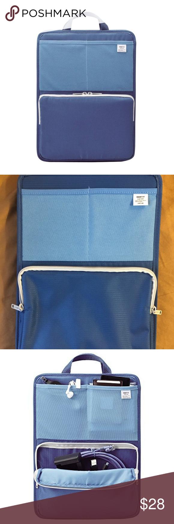 LIHIT LAB Smart Fit Bag/Backpack Organizer Blue A4 Blue