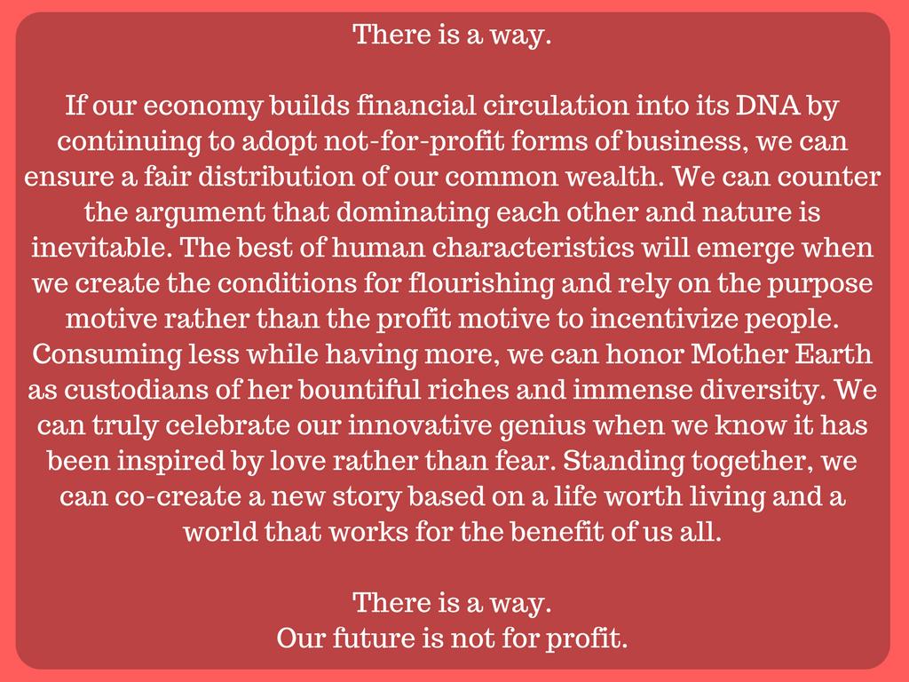 Tulevaisuudessa ei ajatella liikevoittoa