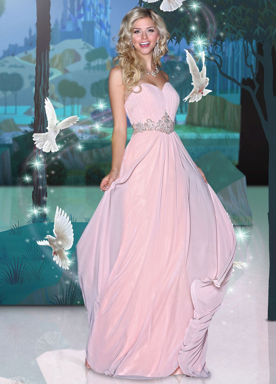 Disney Forever Enchanted-potential bridesmaid\'s dress but instead of ...