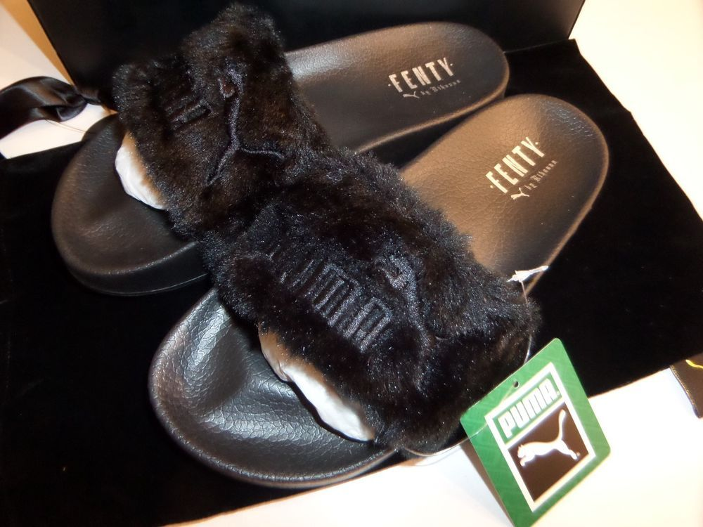 AUTHENTIC PUMA FENTY LEADCAT RIHANNA Fur Sliders 362266-03 Black Slippers  UK 6  PUMA  RihannaFenty  Fenty  Rihanna  Women s  Sandals  Sliders   Slippers   ... 981304678