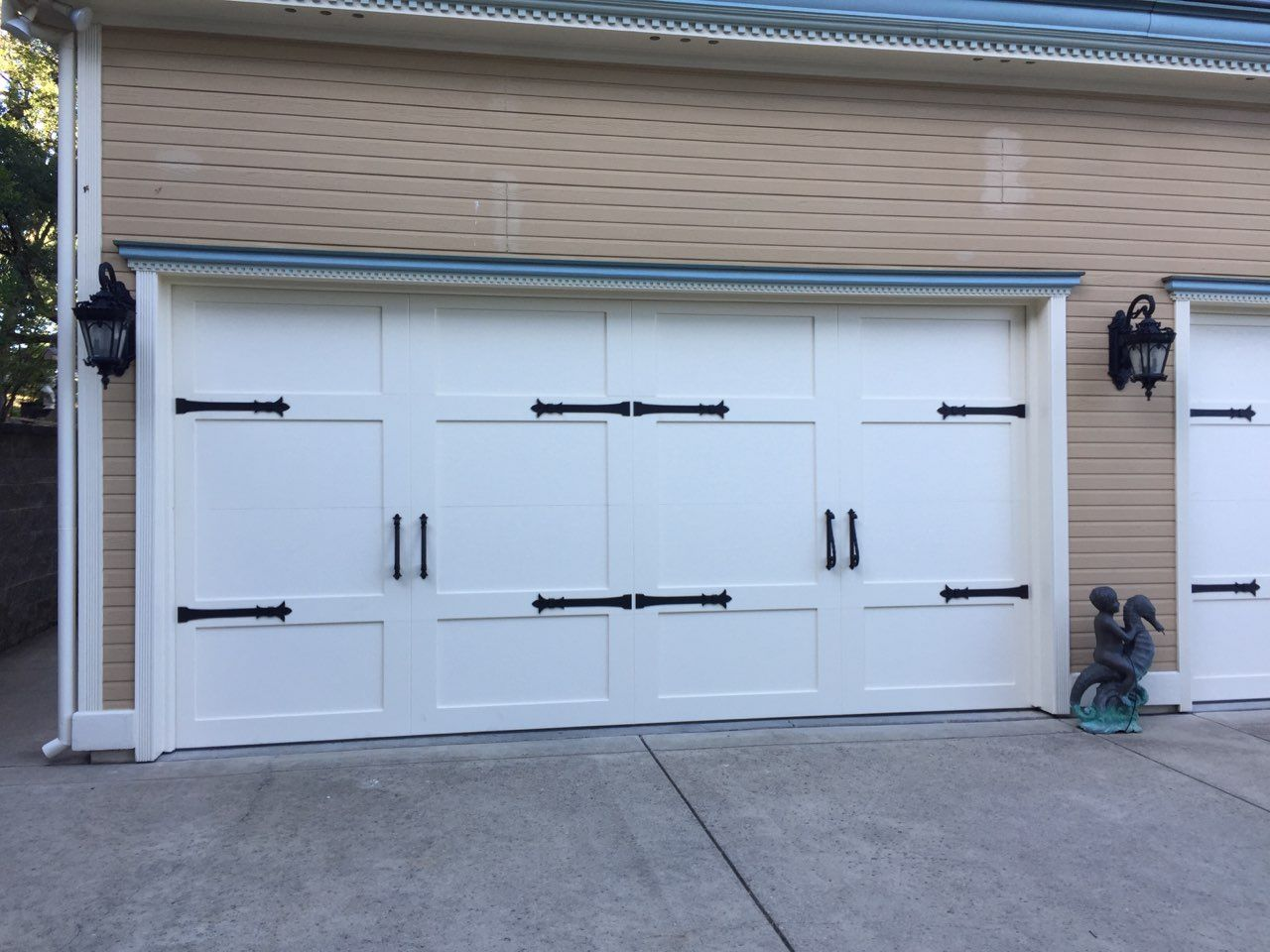 Garage Door Straps Hardware Garage Doors Garage Door Design Garage Door Styles