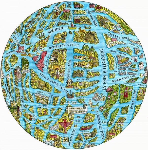 Shoreditch as islands on a globe london graphics design shoreditch as islands on a globe gumiabroncs Image collections