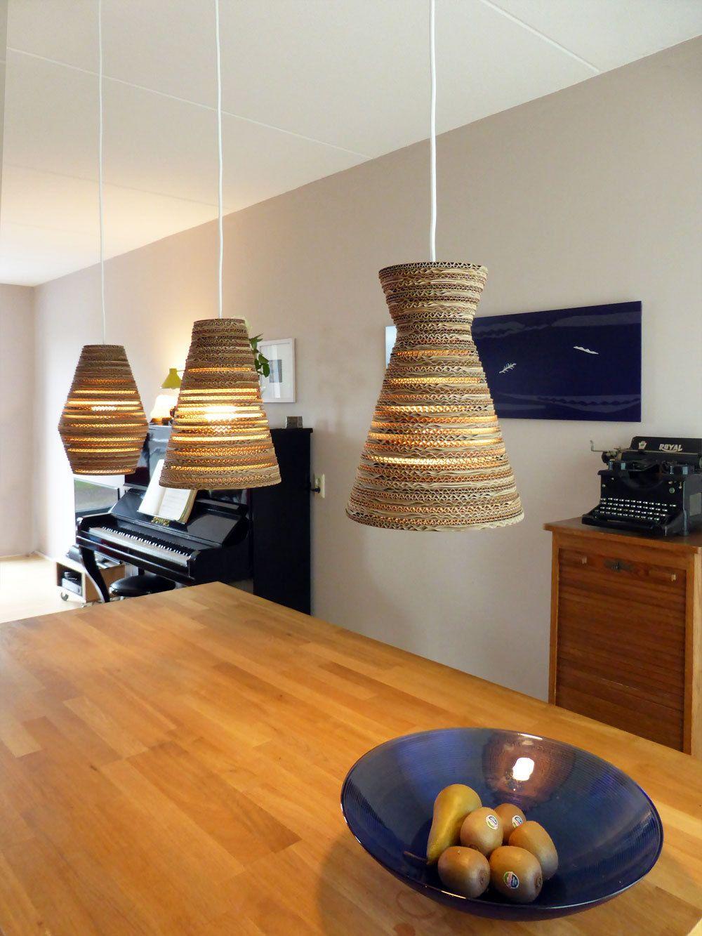 Eettafel lamp van karton Pera Light  22cm  Nieuw huis