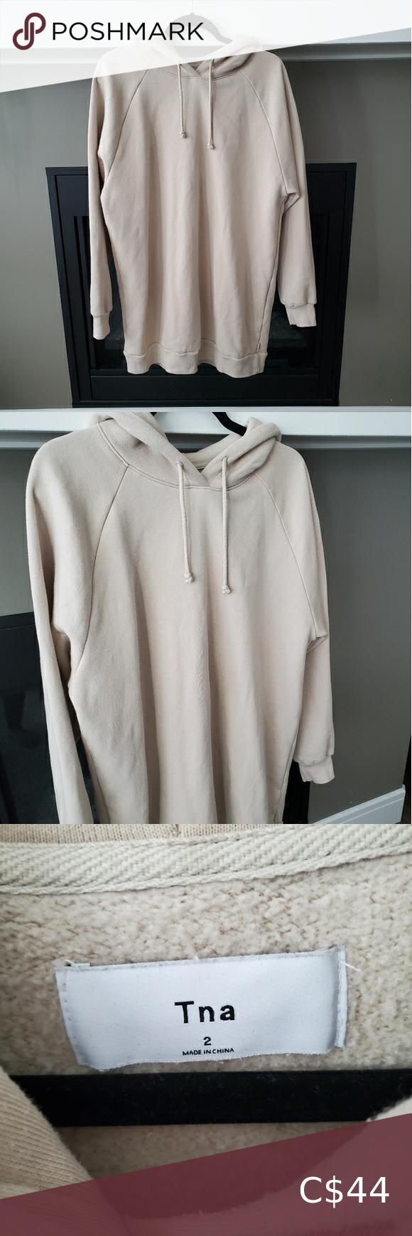 Aritzia TNA Venta Sweater Dress Size 2 An oversized fleece
