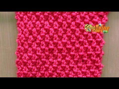 Cómo Tejer Punto ARROZ DOBLE-REVERSIBLE-Double Moss Stitch 2 Agujas ...